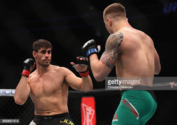 Antonio Carlos Junior of Brazil and Marvin Vettori of Italy square off in their middleweight bout during the UFC 207 event on December 30 2016 in Las...