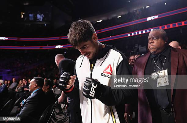 Antonio Carlos Junior of Brazil walks to the Octagon to face Marvin Vettori of Italy in their middleweight bout during the UFC 207 event on December...