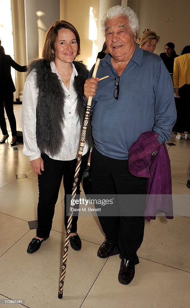 Antonio Carluccio (R) and Sabine Stevenson attend the private view of 'elBulli: Ferran Adria and The Art of Food' at Somerset House on July 4, 2013 in London, England. The exhibition, in partnership with Estrella Damm, opens on July 5th and runs until September 29th 2013.