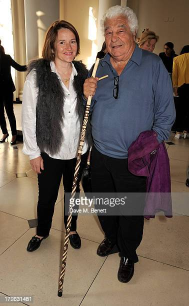 Antonio Carluccio and Sabine Stevenson attend the private view of 'elBulli Ferran Adria and The Art of Food' at Somerset House on July 4 2013 in...