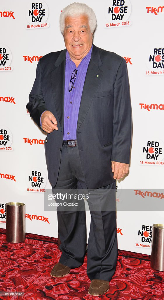 Antonio Carluccio attends a fundraising cocktail party hosted by TK Maxx in aid of Comic Relief's Red Nose Day at The Royal Opera House on February 28, 2013 in London, England.