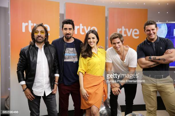 Antonio Carmona Alex Ubago Roko Carlos Baute Manu Tenorio attend the presentation of 'Fantastic Duo' Tv programme on May 8 2017 in Madrid Spain