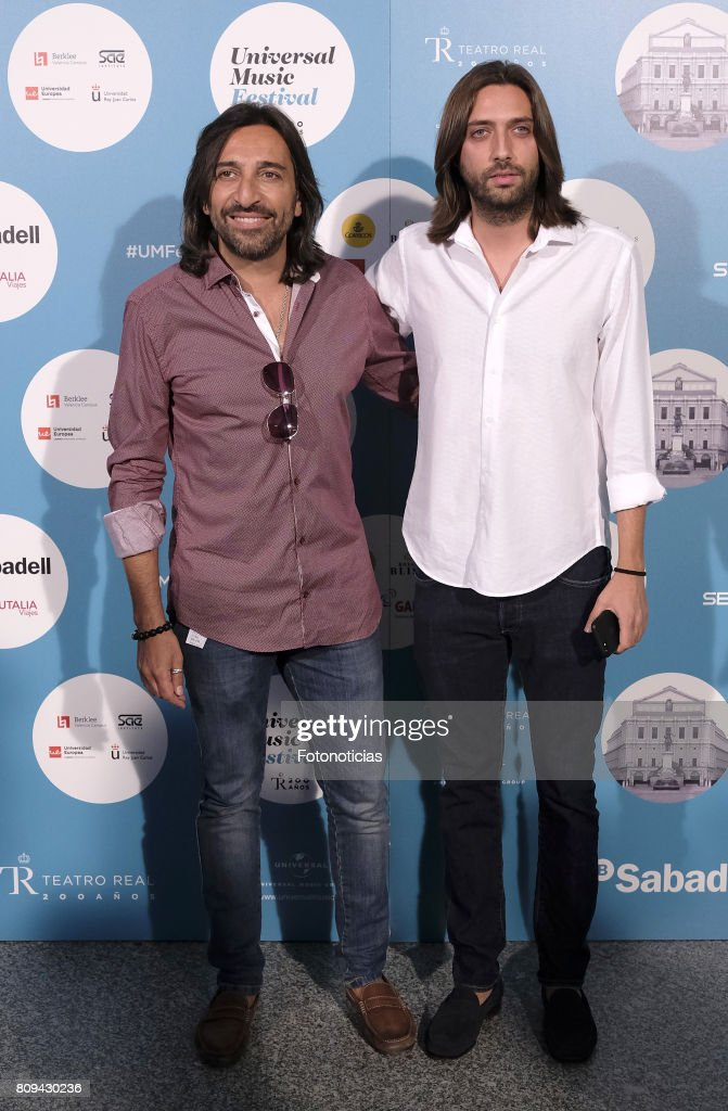 Antonio Carmona and Juan Jose Carmona attend the Universal Music Festival Sting's concert at the Teatro Real on July 5, 2017 in Madrid, Spain.