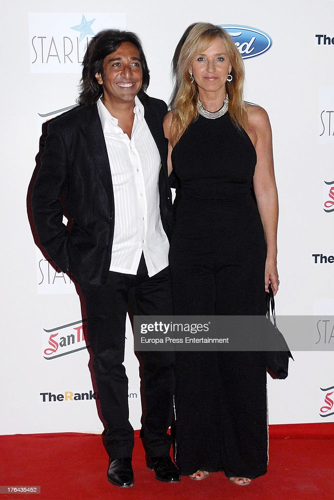 Antonio Carmona and Mariola Orellana attend the 4rd annual Starlite Charity Gala on August 10, 2013 in Marbella, Spain.