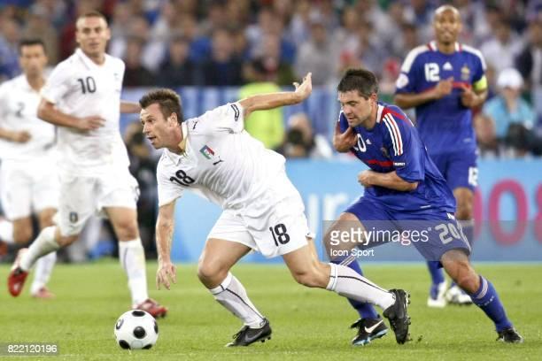 Antonio CASSANO / Jeremy TOULALAN France / Italie Euro 2008 Zurich