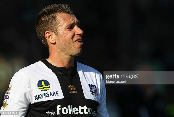 Antonio Cassano of Parma FC looks on during the Serie A match between Parma FC and Hellas Verona FC at Stadio Ennio Tardini on March 9 2014 in Parma...