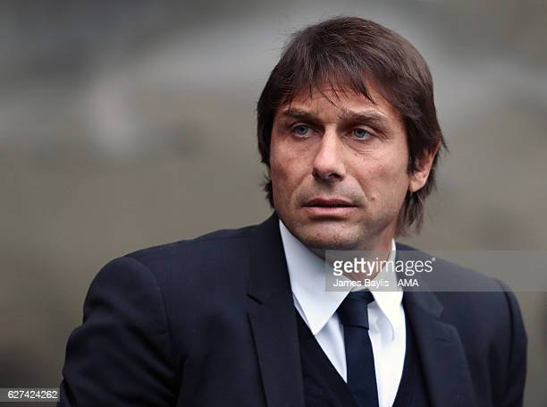 Antonio Conte manager / head coach of Chelsea during the Premier League match between Manchester City and Chelsea at Etihad Stadium on December 3...