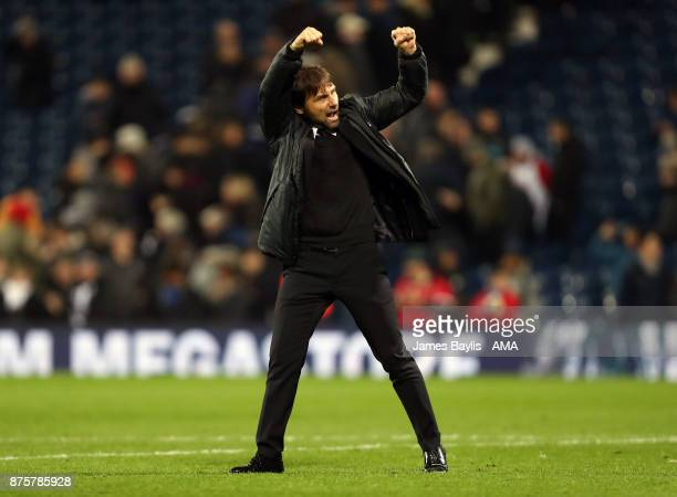 Antonio Conte manager / head coach of Chelsea during the Premier League match between West Bromwich Albion and Chelsea at The Hawthorns on November...