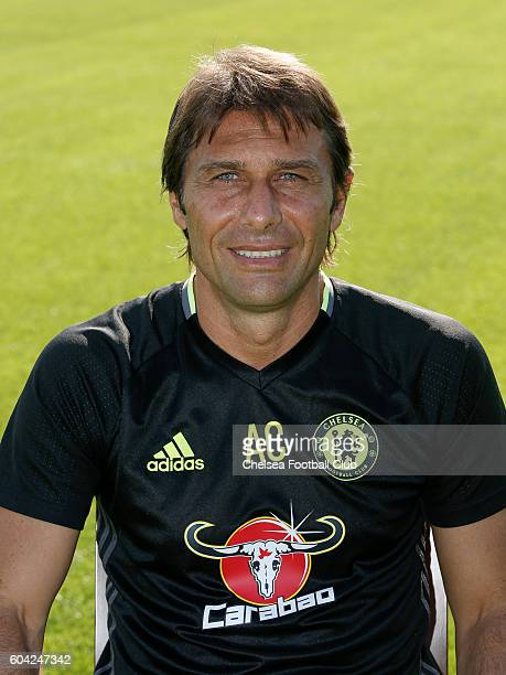 Antonio Conte of Chelsea poses for the headshot at Chelsea Training Ground on September 13 2016 in Cobham England