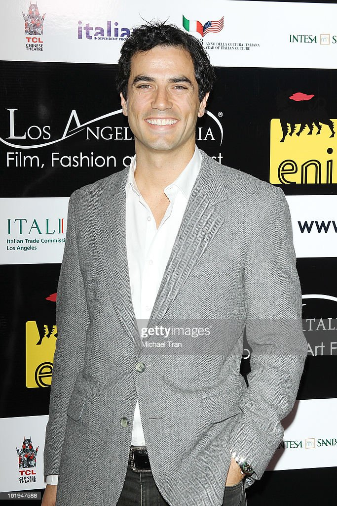 Antonio Cupo arrives at The 8th Annual Los Angeles, Italia Film, Fashion And Art Festival held at Chinese 6 Theatres on February 17, 2013 in Hollywood, California.