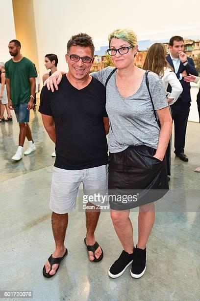 Antonio DaSilva and Vicki DaSilva attend Opening of Ian Davenport and Robert Polidori at Paul Kasmin Gallery on September 8 2016 in New York City