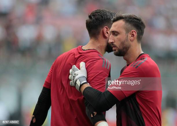 Antonio Donnarumma during the preliminaries of Europa League 2017/2018 match between Milan v Craiova in Milan on august 3 2017