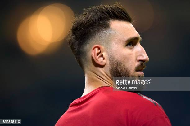 Antonio Donnarumma of AC Milan looks on prior to the UEFA Europa League Group D match between AC Milan and HNK Rijeka AC Milan wins 32 over HNK Rijeka