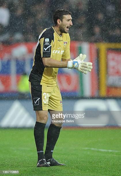 Antonio Donnarumma of Gubbio in action during the Serie B match between AS Gubbio and Calcio Padova at Stadio Pietro Barbetti on December 10 2011 in...