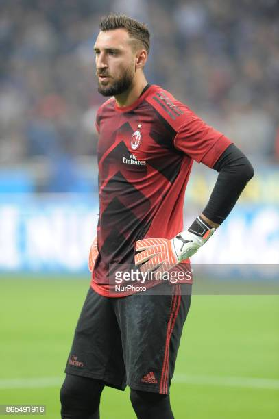 Antonio Donnarumma of Milan goalkeeper during the warmup before the match valid for Italian Football Championships Serie A 20172018 between FC...