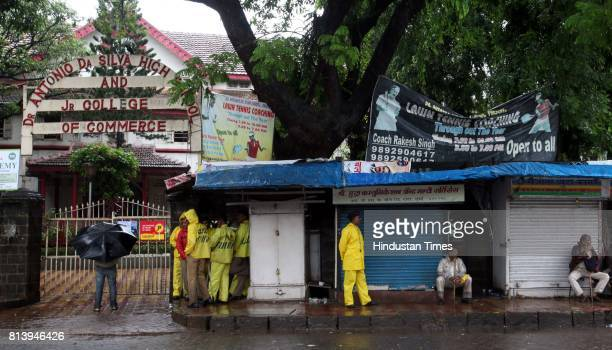 Antonio D'Silva High School and shops adjecant to it are closed near the blast site at Dadar in Mumbai on Thursday morning