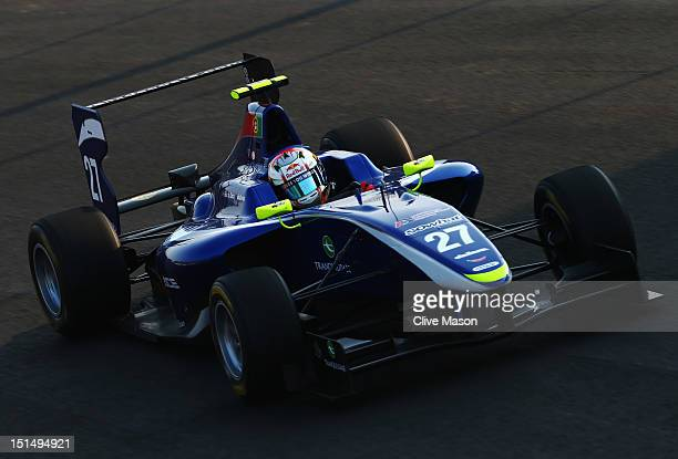 Antonio Felix Da Costa of Carlin Motorsport drives in the GP3 series prior to practice for the Italian Formula One Grand Prix at the Autodromo...