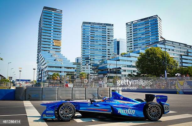 Antonio Felix da Costa of Portugal and Amlin Aguri Formula E Team during the 2015 FIA Formula E Buenos ePrix at Puerto Madero Street Race Track on...