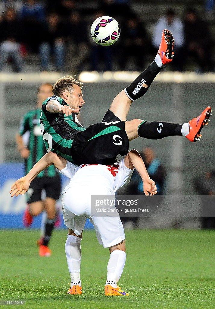 Antonio Floro Flores # 83 of US Sassuolo Calcio in action during the Serie A match between US Sassuolo Calcio and AS Roma on April 29, 2015 in Reggio nell'Emilia, Italy.