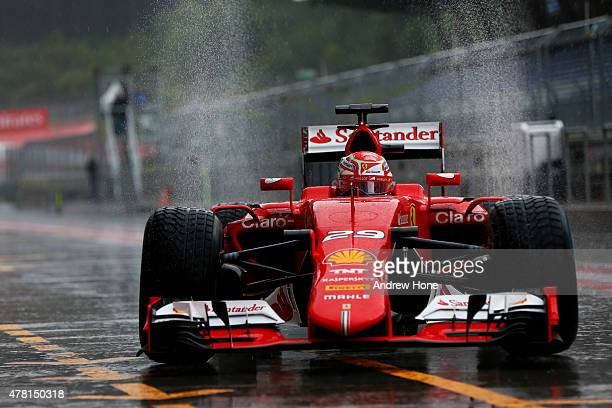 Antonio Fuoco of Italy and Scuderia Ferrari drives during Formula One testing at the Red Bull Ring on June 23 2015 in Spielberg Austria