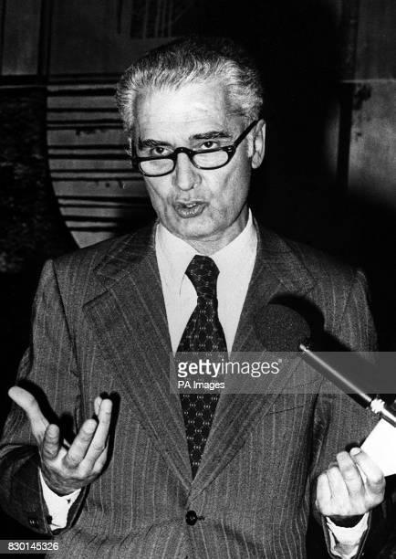 Antonio Giolitti Italian politician pictured when EEC Regional Policy Commissioner and member of the European Parliament in Strasbourg Giolitti was a...