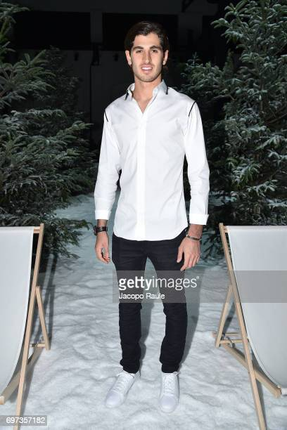 Antonio Giovinazzi attends the Moncler Gamme Bleu show during Milan Men's Fashion Week Spring/Summer 2018 on June 18 2017 in Milan Italy