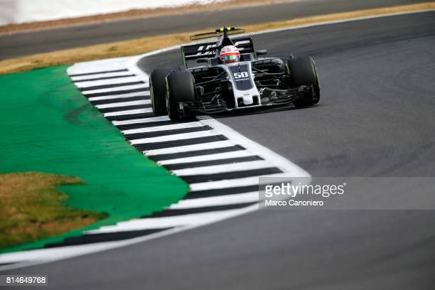 Antonio Giovinazzi of Italy driving the Haas F1 Team HaasFerrari VF17 Ferrari on track during practice for the Formula One Grand Prix of Great Britain