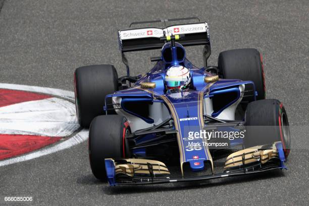 Antonio Giovinazzi of Italy driving the Sauber F1 Team Sauber C36 Ferrari on track during final practice for the Formula One Grand Prix of China at...