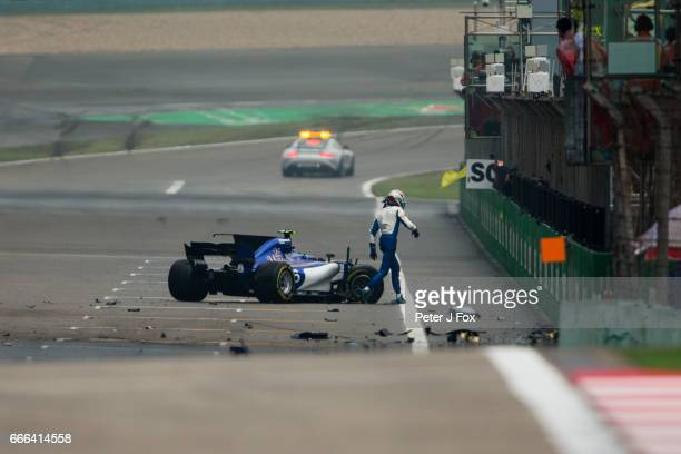 Antonio Giovinazzi of Sauber and Italy during the Formula One Grand Prix of China at Shanghai International Circuit on April 9 2017 in Shanghai China