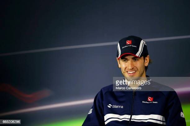 Antonio Giovinazzi of Sauber during press conference of the Formula One Grand Prix of China