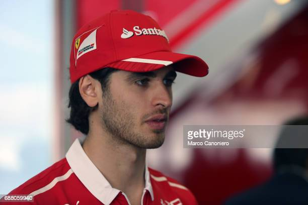 Antonio Giovinazzi third driver of team Ferrari in the Paddock during the Monaco Formula One Grand Prix