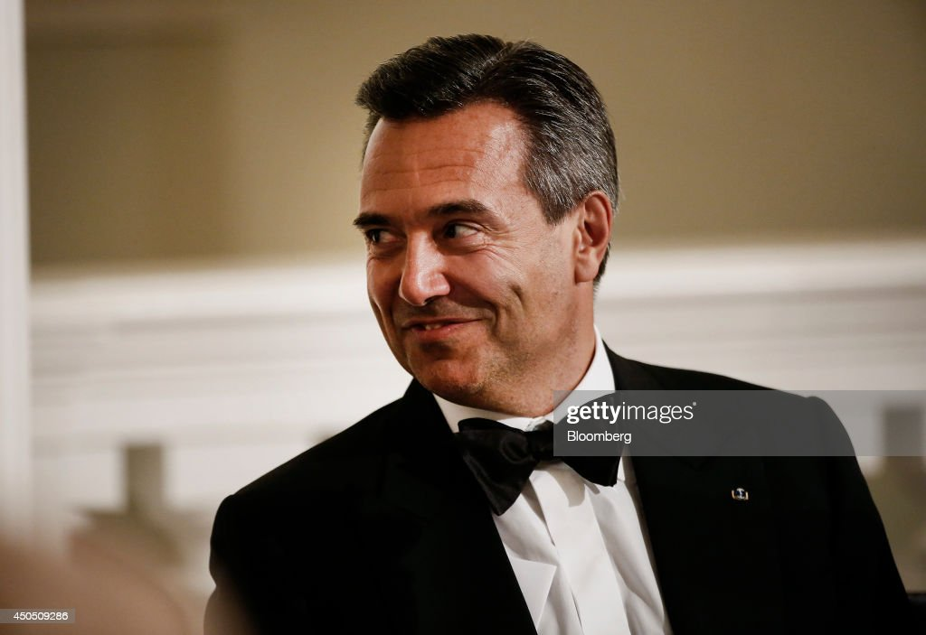 Antonio Horta-Osorio, chief executive officer of Lloyds Banking Group Plc, reacts as he attends the annual Bankers and Merchants dinner at Mansion House in London, U.K., on Thursday, June 12, 2014. Mark Carney said the Bank of England could raise interest rates from a record low earlier than investors expect as he expressed concern that mounting debt related to the housing market could undermine stability. Photographer: Simon Dawson/Bloomberg via Getty Images
