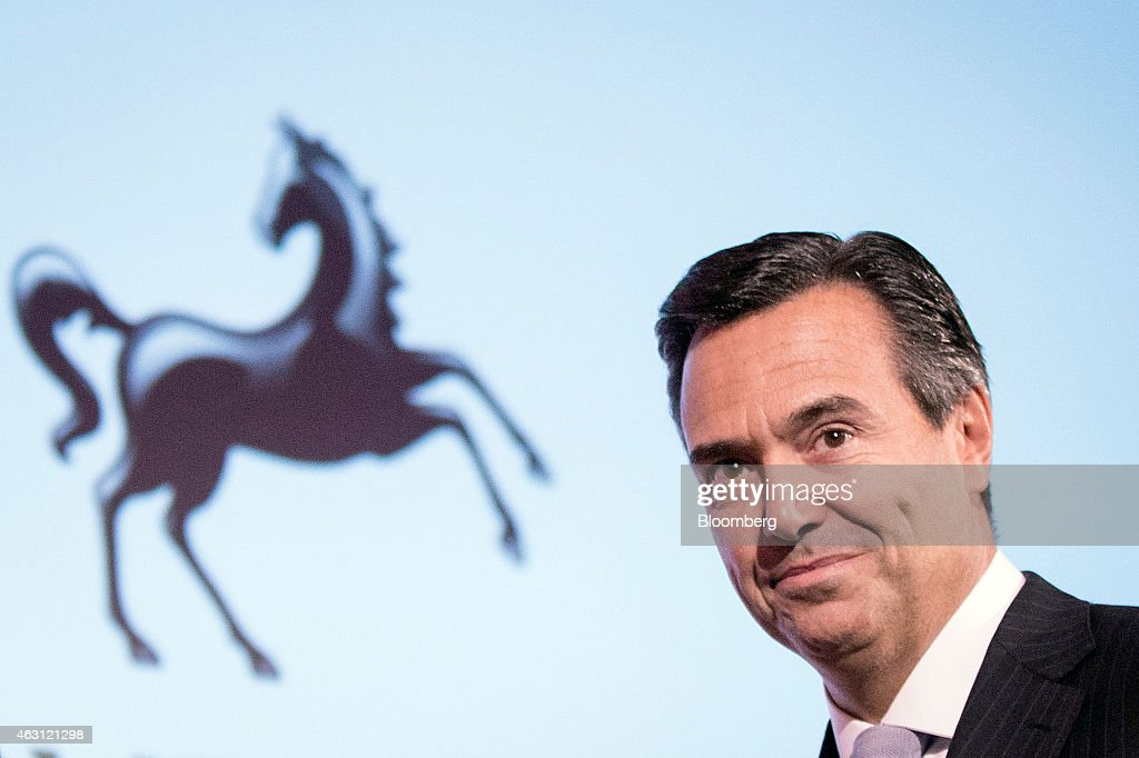 Antonio Horta-Osorio, chief executive officer of Lloyds Banking Group Plc, pauses as he speaks during the British Chamber of Commerce's (BCC) annual conference in London, U.K., on Tuesday, Feb. 10, 2015. U.K. Prime Minister David Cameron, who is seeking re-election in less than three months, will urge employers to pay their staff more. Photographer: Simon Dawson/Bloomberg via Getty Images