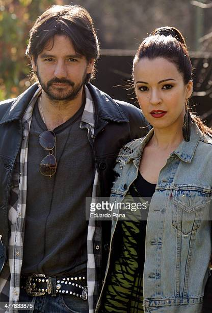 Antonio Hortelano and Veronica Sanchez attend 'Sin Identidad' Tv Serie Presentation at Navalmanzano street on March 11 2014 in Madrid Spain