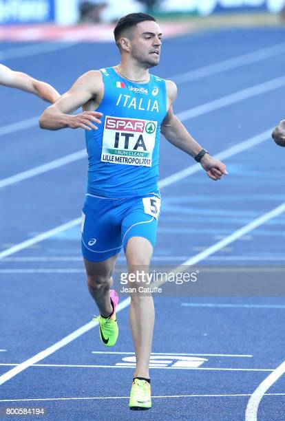 Antonio Infantino of Italy competes in the 200m during the 2017 European Athletics Team Championships at Stadium Lille Metropole on June 23 2017 in...