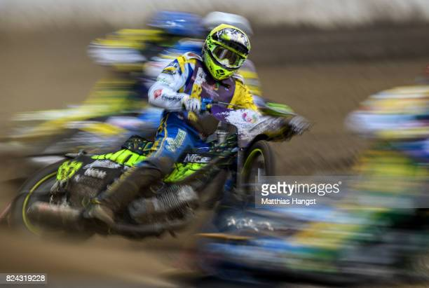 Antonio Lindbaeck of Sweden competes during the Invitation Sports Speedway competition of The World Games at the Olympic Stadium on July 29 2017 in...