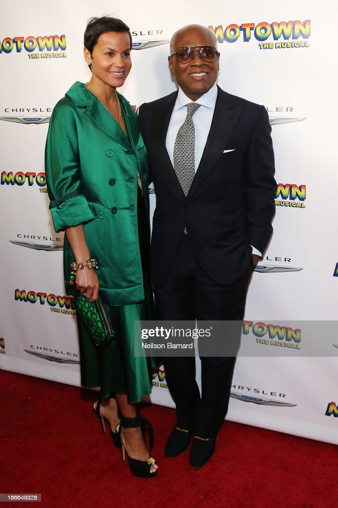 Antonio M. 'L.A.' Reid and Erica Reid attend the after party for the Broadway opening night for 'Motown: The Musical' at Roseland Ballroom on April 14, 2013 in New York City.