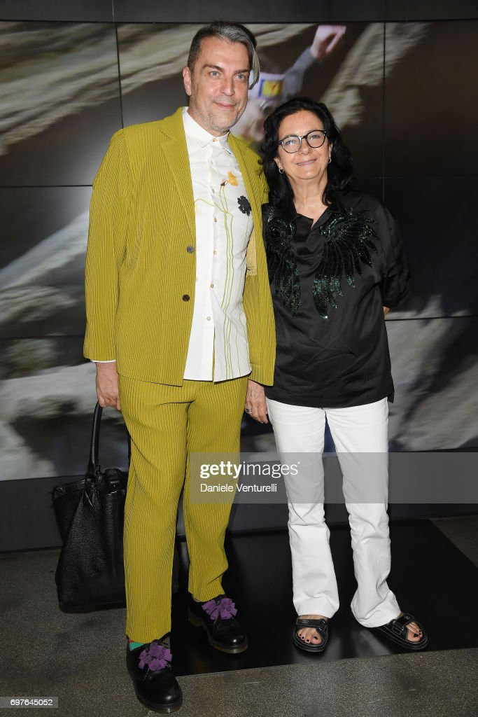 Antonio Mancinelli and Antonella Antonelli attend the Fendi show during Milan Men's Fashion Week Spring/Summer 2018 on June 19, 2017 in Milan, Italy.