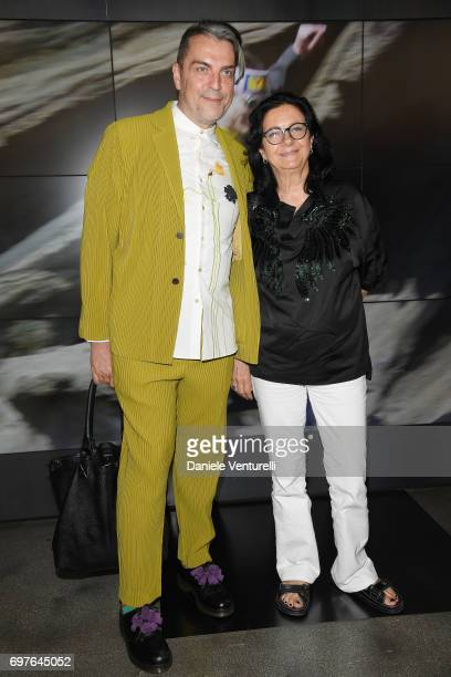 Antonio Mancinelli and Antonella Antonelli attend the Fendi show during Milan Men's Fashion Week Spring/Summer 2018 on June 19 2017 in Milan Italy