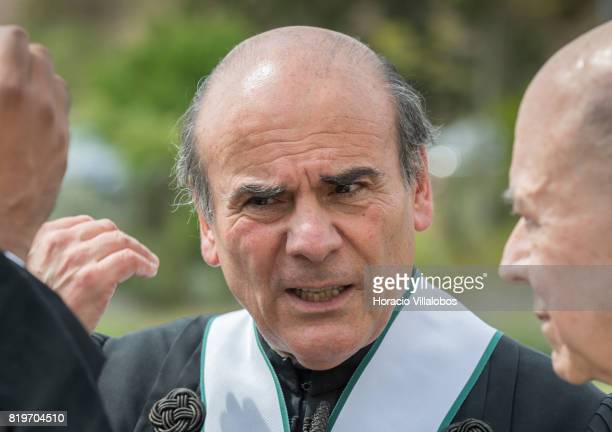 Antonio Manuel Bensabat Rendas Rector of NOVA University of Lisbon at the end of the ceremony in which Prince Aga Khan was awarded with the Honoris...