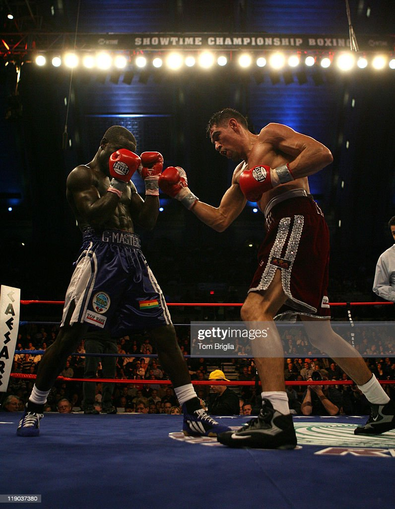 Antonio Margarito lands a punch on Joshua Clottey at Boardwalk Hall in Atlantic City New Jersey on Dec 2 2006