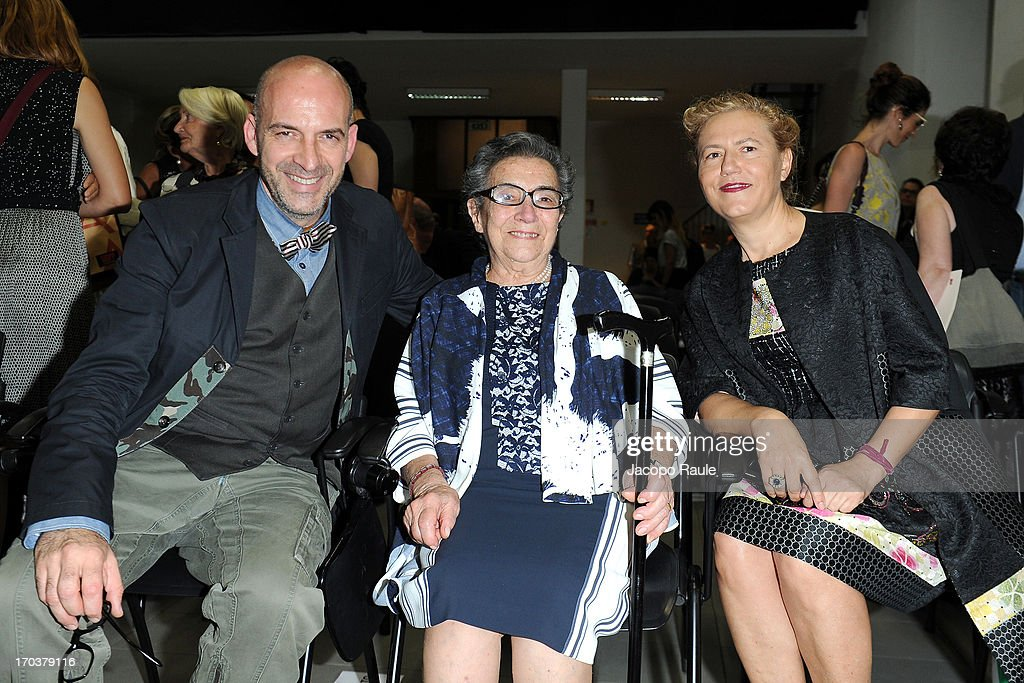 Antonio Marras and his mother Nannina and his wife Patrizia Marras attend Antonio Marras Receives Honorary Degree From Academy of Fine Arts of Brera on June 12, 2013 in Milan, Italy.
