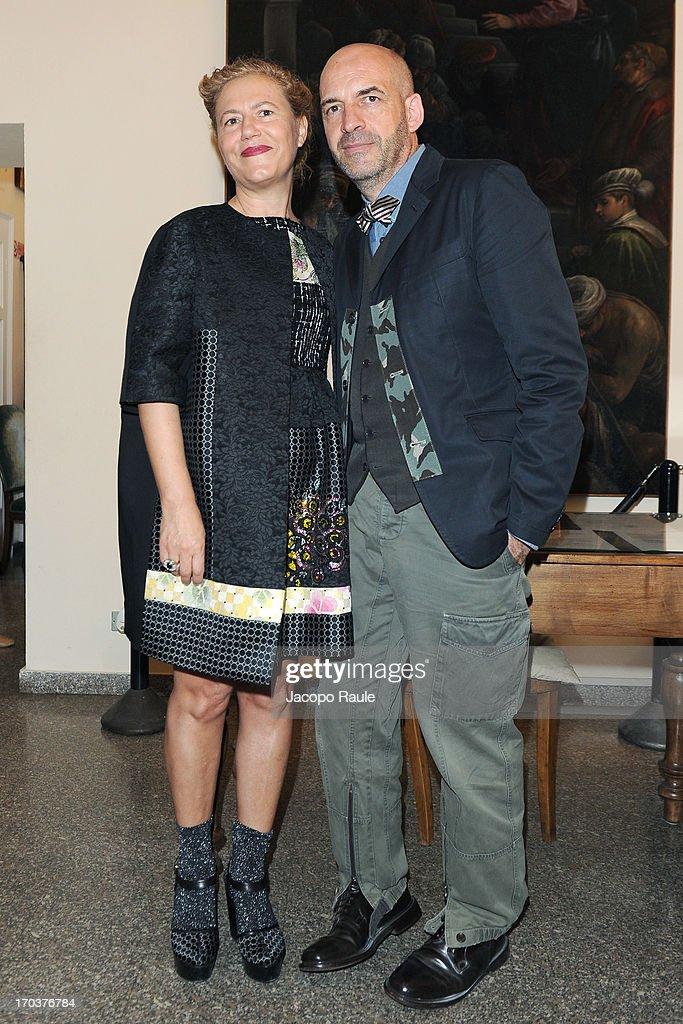 Antonio Marras and Patrizia Marras attend Antonio Marras Receives Honorary Degree From Academy of Fine Arts of Brera on June 12, 2013 in Milan, Italy.