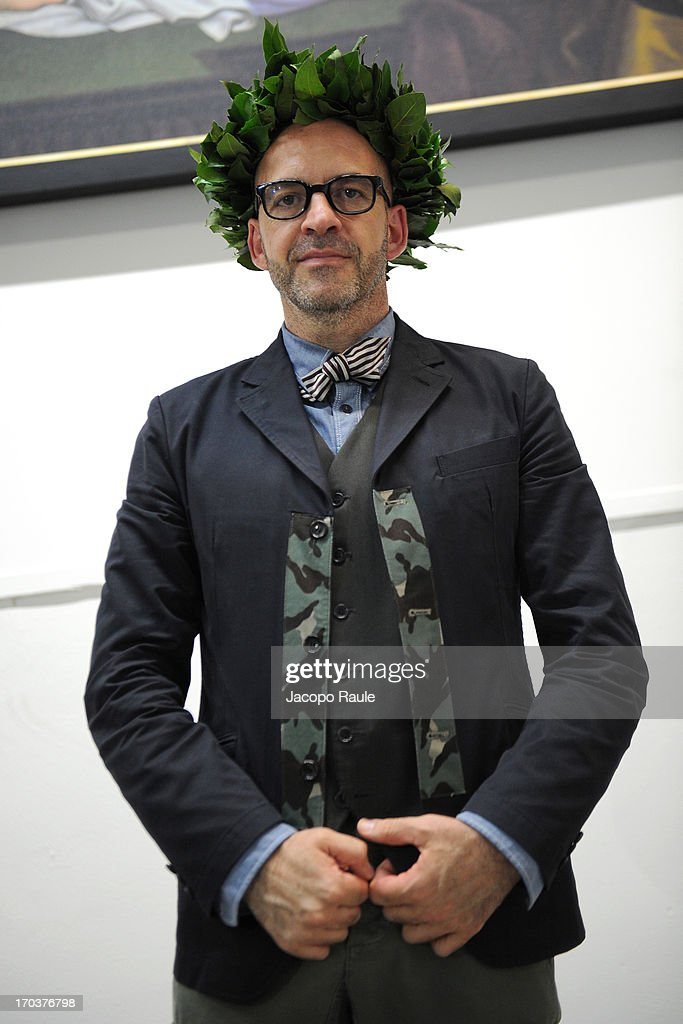 <a gi-track='captionPersonalityLinkClicked' href=/galleries/search?phrase=Antonio+Marras+-+Marca+de+designer&family=editorial&specificpeople=8044699 ng-click='$event.stopPropagation()'>Antonio Marras</a> attends ceremony Honorary Degree From Academy of Fine Arts of Brera on June 12, 2013 in Milan, Italy.