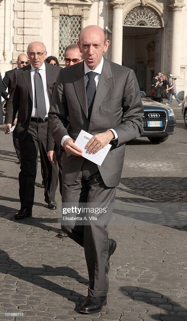 Antonio Mastrapasqua arrives at the Quirinale Palace to attend a Gala Dinner hosted by Italy's President Giorgio Napolitano on June 1, 2010 in Rome, Italy.