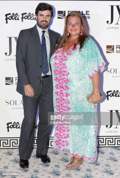 Antonio Matos and Caritina Goyanes attend the Jorge Vazquez show during the MercedesBenz Fashion Week Madrid Spring/Summer 2018 at AC Santo Mauro...