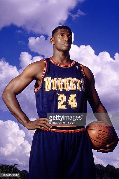 Antonio McDyess of the Denver Nuggets poses for a potrait in 1996 in Denver Colorado NOTE TO USER User expressly acknowledges and agrees that by...