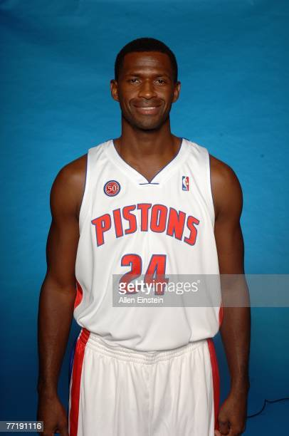 Antonio McDyess of the Detroit Pistons poses for a portrait during NBA Media Day at the Pistons Practice Facility on October 1 2007 in Auburn Hills...