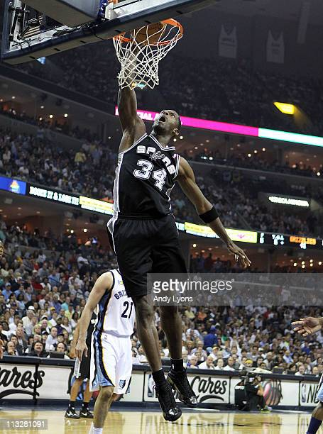 Antonio McDyess of the San Antonio Spurs shoots the ball against the Memphis Grizzlies in Game Six of the Western Conference Quarterfinals in the...