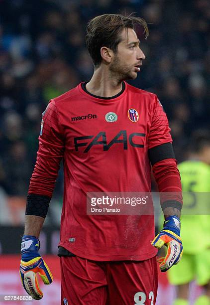 Antonio Mirante goalkeeper of Bologna FC looks on during the Serie A match between Udinese Calcio and Bologna FC at Stadio Friuli on December 5 2016...